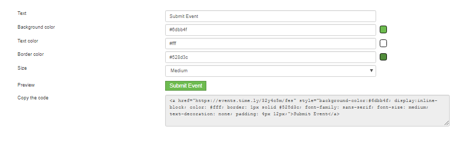 Customise a button for elsewhere on your site