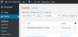 Wordpress Calendar User Guide