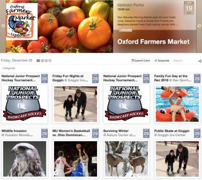 Events Calendar for Community Entrepreneurs - click for a demo