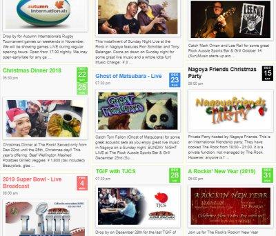 Events Calendar for Venues, Bars, Museums, Restaurants, Art Halls - click for a demo