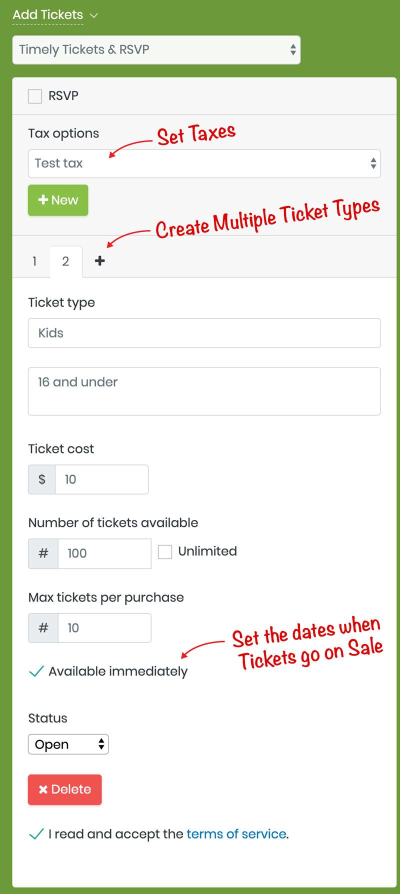 Ticket-Form