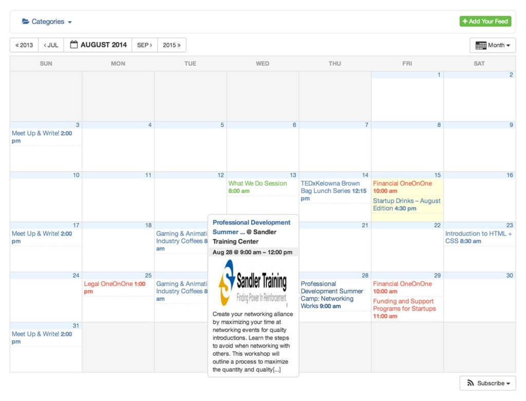 timely all in one event calendar wordpress plugin monthly view screenshot 5