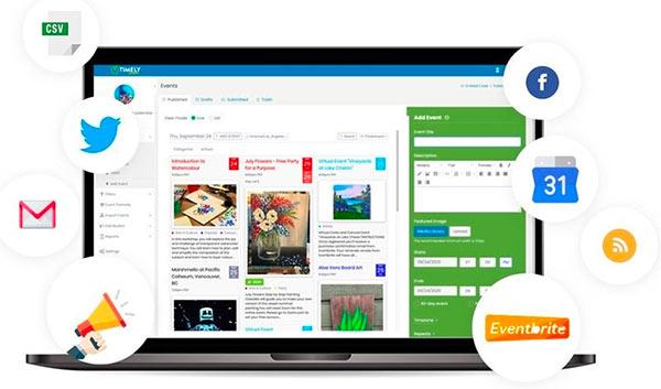 An event management software on a computer