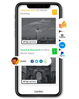 An event management software on a Phone