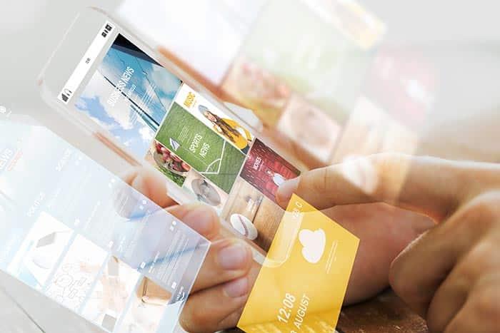 schermo mobile con eventi e soluzioni software per la gestione degli eventi