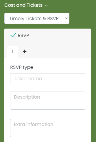print screen of the new field Extra information for tickets and RSVPs