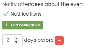 print screen fo event notification settings