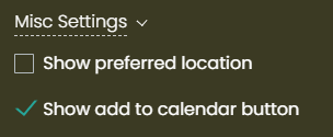 print screen of the add to calendar show/hide button in Timely event calendar dashboard