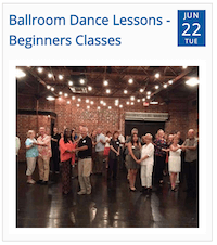 Ballroom Dance Lessons from Timely city calendar