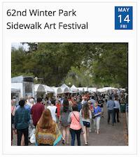 Winter Park Sidewalk Art Festival from timely city calendar